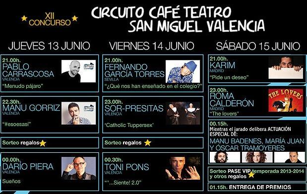 Final XII Concurso Circuito Café Teatro