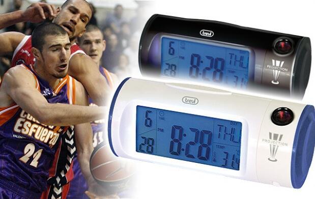 Reloj despertador + basket, 18 euros