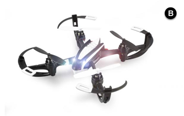 Drone cuadróptero RC 6 ejes