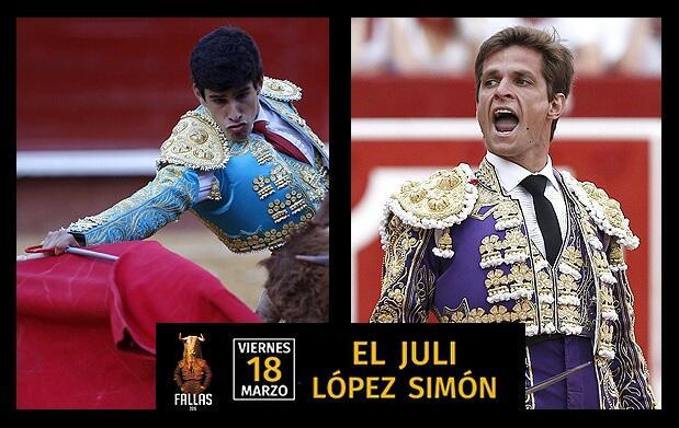 El Juli y López Simón, en Sombra Filas 1, 2 y 3