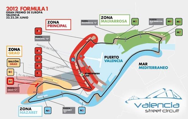 Dos entradas para la F-1 de Valencia