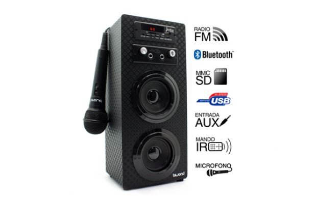 Joybox Karaoke con Bluetooth, SD, USB y radio