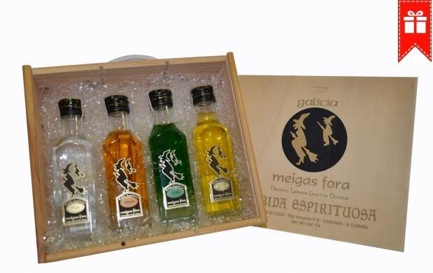 4 botellas del mejor licor gallego