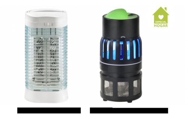 Mata insectos con lámpara UV y ventilador
