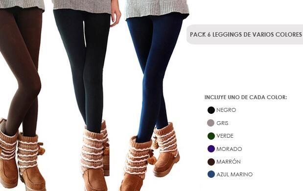 Pack 6 leggings de invierno por 19,99€