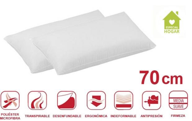 Pack de 2 almohadas viscoelásticas Copos