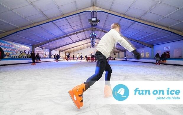 3h de patinaje sobre hielo para dos