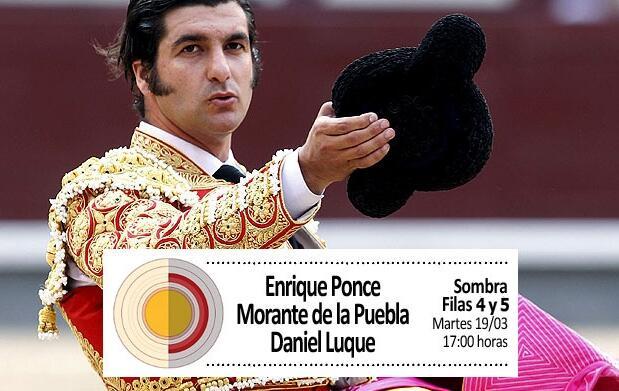 Ponce, Morante y Luque en filas 4 y 5
