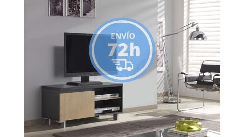 Mueble TV color roble con una puerta