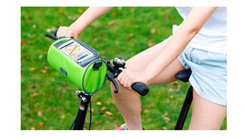 Bolsa con soporte Smartphone para bicicleta