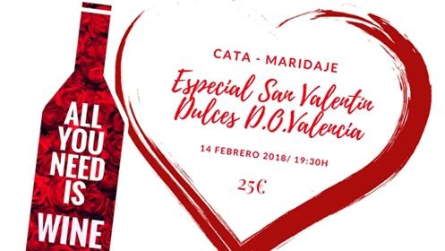 Celebra tu San Valentín con 'All you need is wine'