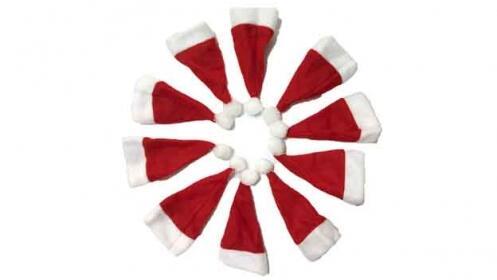 Sombreritos Navideños portacubiertos o decoración