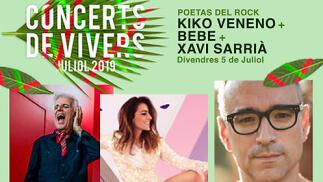 Concierto de Kiko Veneno + Bebe + Xavi Sarrià en Viveros