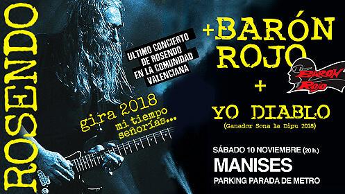 Concierto de Rosendo, Barón Rojo y Yo Diablo en Manises