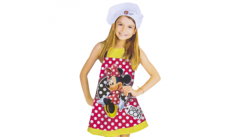 Disney Minnie Mouse, set delantal + gorro