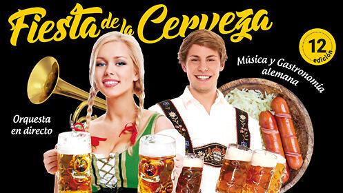 Jarra 1L con salchicha y puré en la Fiesta de la Cerveza