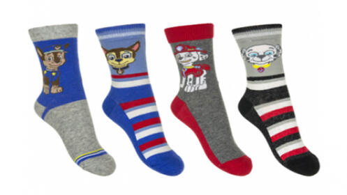 Pack de 4 calcetines de la Patrulla Canina
