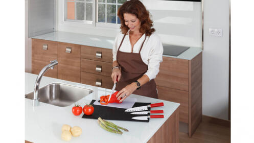 Set de 4 cuchillos profesionales con recubrimiento de cerámico
