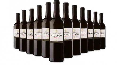 3, 6 o 12 botellas de vino tinto Rioja Marqués de Vidiago